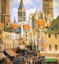 Pissarro Camille The old market at Rouen Sun