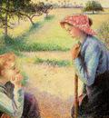 Pissarro Camille The talk Sun