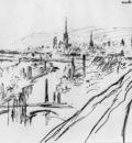 Pissarro Camille View of Rouen Sun