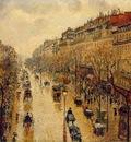 Pissarro Le Boulevard Montmartre, temps de pluie, apres midi