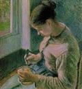 Pissarro Peasant girl drinking her coffee, 1891, 65 3x54 8 c