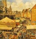 Pissarro The Fair in Dieppe, Sunny Morning, 1901 ,