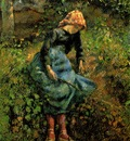 Pissarro The Shepherdess Young Peasant Girl with a Stick ,