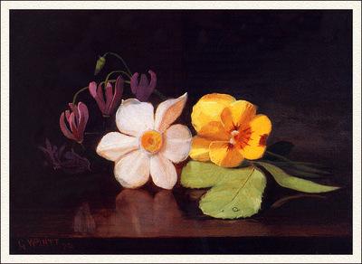 bs flo George W Platt Still Life A Handful Of Flowers