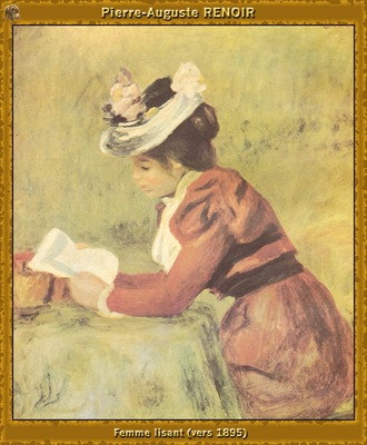 po par 240 femme lisant