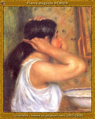 po par 287 la toilette femme se peignant 1907