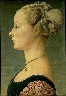 Pollaiuolo,A  Portrait of a young woman, 1460 75, 46x33 cm,