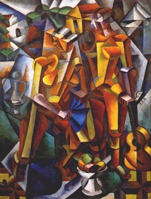 popova composition with figures