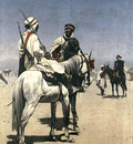Arab Men On Horseback