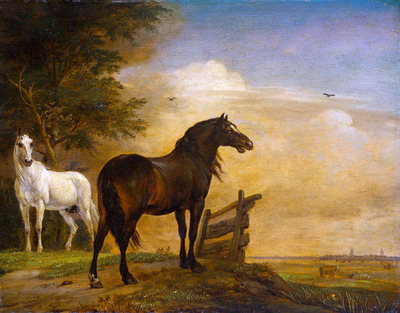 Potter Paulus Two horses Sun