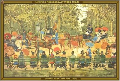 maurice prendergast central park new york 1901 po amp