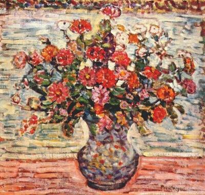 prendergast flowers in a vase c1917