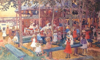 prendergast flying horses c1901