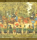 maurice prendergast central park new york 1901 po amp