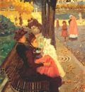 prendergast the tuileries gardens, paris 1892