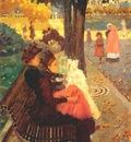 prendergast the tuileries gardens, paris 1892