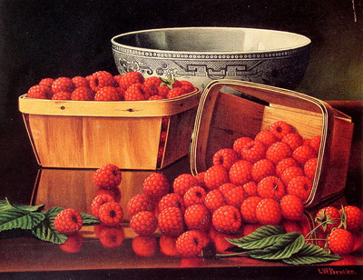 Baskets of Raspberries