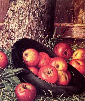 Still Life of Apples in a Hat