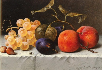 Preyer Emilie Still Life with Fruit And Nuts