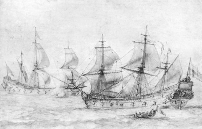 Puget Two Vessels under Sail