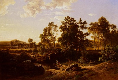 Quinaux Joseph A River Landscape With A Mill