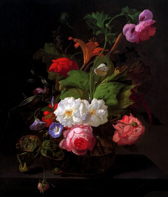 Rachel Ruysch Still life with flowers Sun