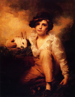 Raeburn Sir Henry Boy And Rabbit