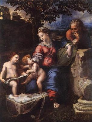Raffaello Holy Family below the Oak