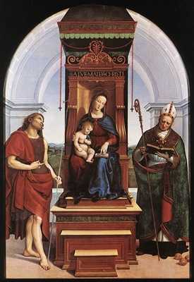 Raffaello Madonna and Child The Ansidei Altarpiece