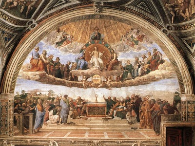 Raffaello Stanze Vaticane Disputation of the Holy Sacrament La Disputa
