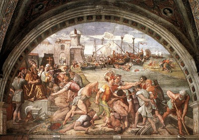 Raffaello Stanze Vaticane The Battle of Ostia