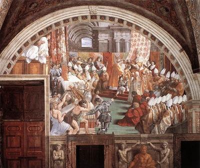Raffaello Stanze Vaticane The Coronation of Charlemagne