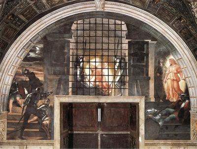 Raffaello Stanze Vaticane The Liberation of St Peter