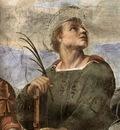 Raffaello Stanze Vaticane La Disputa detail [06]