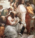 Raffaello Stanze Vaticane The School of Athens detail [04]