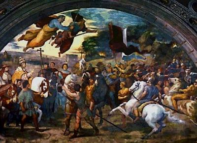 Encuentro del Papa Leon I con Atila