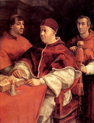 Portrait of Leo X and Two Cardinals