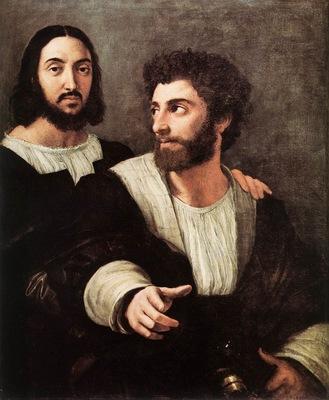Raffaello Double Portrait Louvre