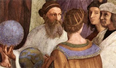 Raffaello Stanze Vaticane The School of Athens detail [07]