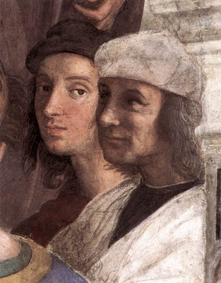 Raffaello Stanze Vaticane The School of Athens detail [08]