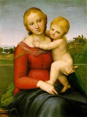 Raffaello The small Cowper Madonna, ca 1505, 59 5x44 cm, NG