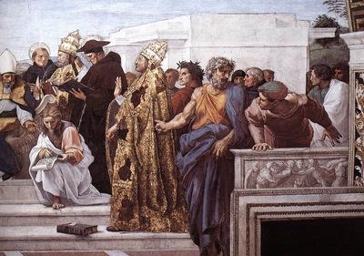 Raphael La Disputa detail13