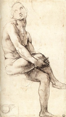 Raphael Study for Adam