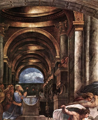 Raphael The Expulsion of Heliodorus from the Temple detail2