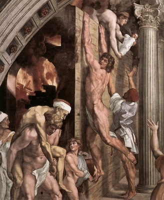 Raphael The Fire in the Borgo detail1