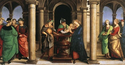 Raphael The Presentation in the Temple Oddi altar predella