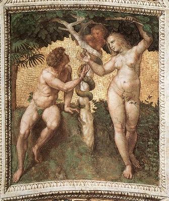 Raphael The Stanza della Segnatura Adam and Eve