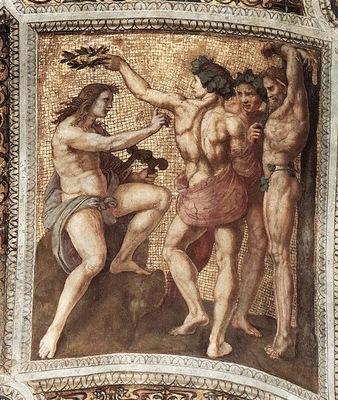 Raphael The Stanza della Segnatura Apollo and Marsyas