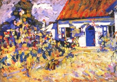 raphael the new blue door c1923