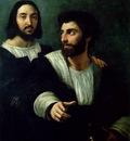 Raffaello Portrait of the Artist with a Friend, traditionall